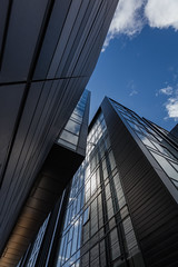 Quarter Mile Development-7 (Philip Gillespie) Tags: street city blue windows sky sun white reflection tower glass up skyline architecture clouds contrast work buildings outside photography scotland office spring edinburgh cityscape angle outdoor wide meadows april series block leading 2016 sequent