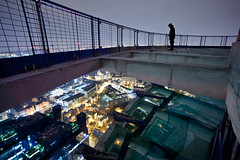 Reach Out (Alastair Batchelor) Tags: city portrait london construction trespass rooftopping