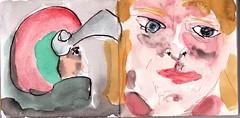 einen richtigen Mann wollte sie. Ein ganzer Kerl sollte er sein, ihr Mann (raumoberbayern) Tags: summer bus pencil subway munich mnchen sketch drawing sommer tram sketchbook heat ubahn draw bleistift robbbilder skizzenbuch zeichung