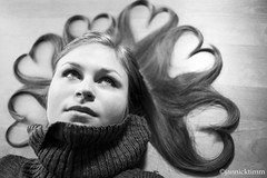 love is in the air (jatimm) Tags: portrait blackandwhite bw love fashion contrast vintage hair mono blackwhite model shoot heart style shooting blacknwhite bnw