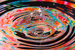 Midair Collision (Steven Green Photography) Tags: abstract water photography waterdrop colorful abstractart contemporaryart modernart fineart wallart crown splash psychedelic collision macrophotography abstractphotography stevengreen waterdropphotography