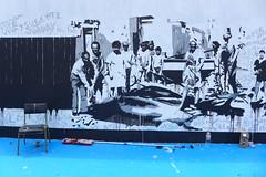 Gran Canaria (denismartin) Tags: espaa fish grancanaria wall graffiti fisherman spain canarias sancristobal canaries pescador laspalmas paintedwall canaryisland macaronesia denismartin