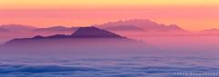 At Dawn (beppeverge) Tags: mist alps fog clouds sunrise landscape dawn alba alpi mottarone seeofclouds beppeverge newyear2016 capodanno2016