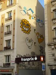 Mr Chat ... pour bien commencer la journe ! (Archi & Philou) Tags: streetart paris13 paintedwall murpeint glacire franprix mrchat