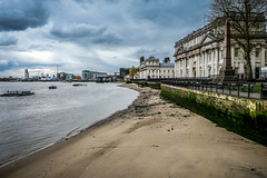 Low tide in SE10 (sara.wendelmelhuish) Tags: old building london history college thames architecture university greenwich fujifilm lowtide naval ornc