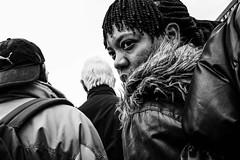 (Peter M. Meijer) Tags: street city people urban bw woman man holland netherlands monochrome rotterdam strada strasse marketplace straat fujix70 fujifilmx70