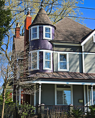 Purple Tower Power (Cam Miller 2016) Tags: architecture tricolor paintedlady victorianhome pitttsburgh