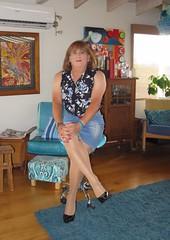 Denim Skirt (Trixy Deans) Tags: hot cute sexy tv cd skirt crossdressing tgirl tranny transvestite denim transgendered miniskirt crossdresser crossdress skirts sexylegs transsexual classy xdresser sexyheels trixydeans sexytransvestite