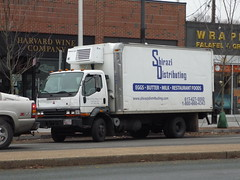 road street new england urban usa white boston japan america truck asian japanese asia state metro massachusetts united north newengland east commercial area delivery vehicle metropolis states mass northeast import fareast fuso far metropolitan mitsubishi canter distribution beantown cabover