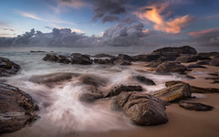 Goyambokka (JoshyWindsor) Tags: scenic dawn motionblur beach landscape waterflow travel canonef1740mmf4l coastal sunrise southcoast srilanka canoneos6d goyambokka holiday clouds