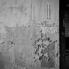 Safe from Harm? (.:Axle:.) Tags: bw slr industry 120 6x6 film mediumformat square blackwhite nc rust ruins industrial factory fuji kodak stock northcarolina hasselblad urbanexploration leftovers fujifilm neopan powerplant ue mamu acros urbex xtol acros100 filmphotography fujiacros100 oldfort filmisnotdead hasselblad500c filmisalive kodakxtol carlzeissdistagon50mm14 believeinfilm mamuviii mamu8