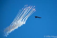 Hornet Firing Flares (villeah) Tags: plane fighter aircraft aviation military jet flare fa18hornet