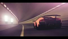 Lamborghini Murcielago SV (Thomas_982) Tags: auto city italy motion cars night italian day tunnel indoor super lamborghini sv murcielago gt6 granturismo ps3 veloce gt5