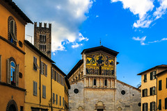 Lucca street (Arutemu) Tags: street city italien italy canon painting mural europe italia european cityscape cathedral scenic eu ciudad lucca scene it medieval toscana tamron fresco renaissance  6d  28300   medievalart  tamron28300  chucrch eos6d    canon6d