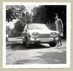 Ford Taunus 17M (Raymondx1) Tags: auto woman white black classic cars ford girl car lady vintage photography photo automobile foto antique vehicle sw motor 1960s beehive taunus sixties 17m p3 taunus17m wirtschaftswunder fordtaunus blackwhite economicmiracle fordp3 bulletmirror talbotmirror