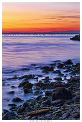 scogliera triestina (Giorgio Serodine) Tags: canon tramonto mare colore pietre sassi trieste scogliera mosso orizzonte alghe disera
