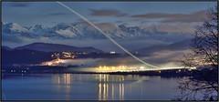 Dcollage - Take-off (PM Gaury) Tags: winter lake france mountains night plane lights nikon hiver lac savoie nuit avion lumires montagnes lacdubourget d7000 nikond7000 savoierhnealpes