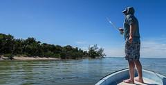 Barefoot in Mexico (E. Hanson) Tags: mexico barefoot caribbean flyfishing panga yukatan puntaallen ascensionbay