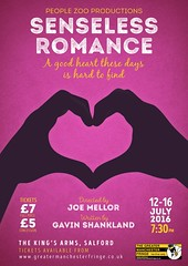 Senseless Romance @SenselessPlay @WeArePeopleZoo 12-16 July 2016 @KingsSalford @_samgee05 @gavshank @stokeyjoey (gmfringe) Tags: uk pink summer england urban white black art love yellow festival handwriting poster manchester tickets design actors artwork hands play heart cheshire northwest theatre britain stage events yorkshire text fingers performance july lancashire bee entertainment shape northern drama thumbs salford symbolic kingsarms loveheart 2016 newwriting whatson joemellor gmfringe greatermanchesterfringe peoplezooproductions senselessromance gavinshankland