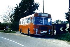 Slide 056-89 (Steve Guess) Tags: uk red england bus bristol hampshire gb lh basingstoke ecw alresford hants candover hantsdorset venturebus