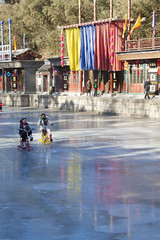 new summer palace (heatherflynn85) Tags: winter reflection ice bike frozen palace sledding