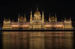 Iconic Danube Landmark (lncgriffin) Tags: longexposure nightphotography travel skyline architecture nikon europa europe hungary gothic budapest parliament limestone d750 nikkor duna iconic danuberiver magyarorszg neorenaissance hungarianparliamentbuilding imresteindl 24120mmf4gvr