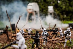 Imperial Attack Pt. 1 (kachenstein) Tags: canon actionfigure starwars empire stormtrooper atat endor scouttrooper toyphotography