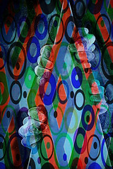 Ten fingers and a birthday hat (jopperbok) Tags: blue red abstract lines digital photoshop circle hands 10 circles fingers digitalart ten wah werehere hereios jopperbok