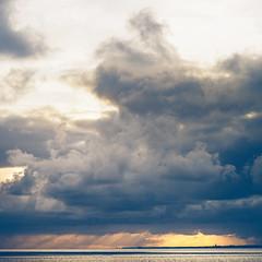 Ameland (Jannes Glas.) Tags: lighthouse clouds boat wadden waddeneiland wolken ameland cloudporn robben waddeneilanden sier holwerd overtocht cloudportn