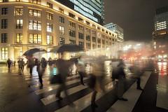 WET NIGHT (ajpscs) Tags: nightphotography colors rain japan night japanese lights tokyo nikon nightshot streetphotography d750  nippon  nightview tokyostation afterdark   kitte   ajpscs noplaceforthesun