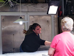 20150527_115704LC (Luc Coekaerts from Tessenderlo) Tags: people woman fish public shop market greece creativecommons worker local corfu kerkyra seller streetview peopleatwork shopkeeper vak localpeople grc stallholder cc0 giosrkkos coeluc vak201505corfu