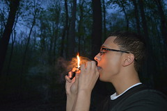 'Light It Up' (miranda.valenti12) Tags: trees light sunset sky nature up forest dark t outside outdoors fire dawn weed smoke it smoking lighter blunt dubz