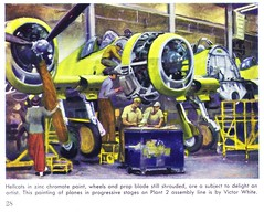 1945 Bethpage, New York -- Grumman at War / Hellcats for the Navy (ramalama_22) Tags: world county new york 2 yellow painting island war long paint aircraft navy engineering vietnam corporation jamming ii electronics production bethpage mass nassau combat carrier radar jammer zinc based grumman chromate ea6b countermeasures a6a