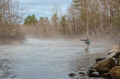 fishing in the fog (paul noble photography) Tags: fog evening spring nikon flickr maine newengland rocky flyfishing waders noble windham freelancephotographer 2470f28 presumpscotriver ruralmaine nikon2470mmf28 nikond7000 paulnobleimages paulnoblephotography fineartamericapaulnobleimages freelancephotographersinportlandmaine fishmaine flyfishingmaine
