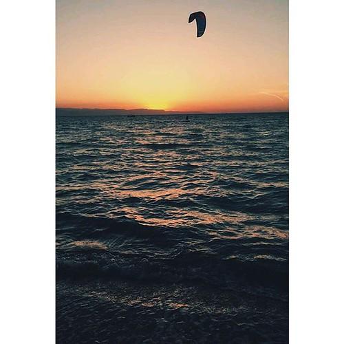 Beach #Summer #Sunset #Kite #kitesurfing #Hot #Clear #Weather
