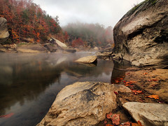 As The River Begins To Awake (Bill Fultz) Tags: morning autumn fog kentucky foggy cumberlandriver autumnmorning cumberlandfallsstatepark kentuckystatepark explorekentucky hikekentucky