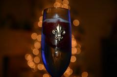 Cheers! (BKHagar *Kim*) Tags: christmas holiday glass drink bokeh champagne cheers fleurdelis challenge bkhagar julesphotochallengegroup