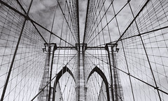 (katiegodowski_photography) Tags: new york city nyc blackandwhite white abstract black lines architecture brooklyn photoshop outside photography blackwhite flickr outdoor manhattan creative bridges wires area amateur amateurs