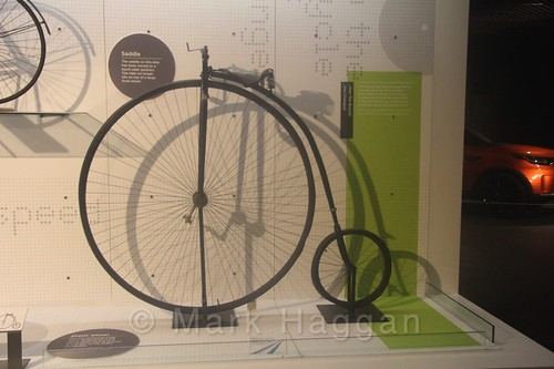 A Penny Farthing at Coventry Transport Museum