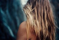 LEAVING (Guillaume Gaubert) Tags: portrait film nature girl analog 35mm hair switzerland waterfall wanderlust wander traval