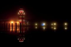 Lighthouse (KwyjiboVanDeKamp) Tags: longexposure lighthouse reflection water night dark lowlight wasser fuji nacht edited fujifilm spiegelung fujinon dunkel leuchtturm langzeitbelichtung bearbeitet weniglicht xe2 xf1855mmf2840 zonerphotostudio17