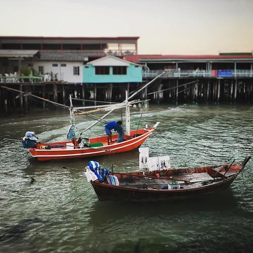 #fishermen in #huahin #thailand #fishingboat