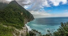 QingShiu Cliff (Tina S Photo) Tags: ocean panorama cliff mountain nature water rock landscape taiwan pacificocean hualien iphone tarokonationalpark 2016trip quingshiucliff