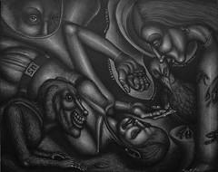 Roadside Conversion (Tom McKee / Art Guy) Tags: pen pencil ink surrealism surreal deviant narrative lowbrow visionary prisma visionaryart narrativeart