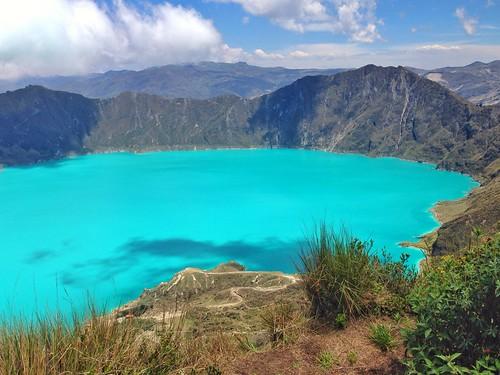 Laguna verde, Vulcán Quilotoa - Ecuador