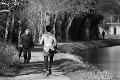 untitled (robwiddowson) Tags: life blackandwhite man men river photography photo exercise image path picture running run photograph robertwiddowson