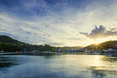 Jayapura Bay (Jokoleo) Tags: city sunset sun indonesia bay papua cityline jayapura vsco