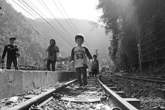 Kid on the Tracks (durbanbay) Tags: 10faves 25faves bwartaward