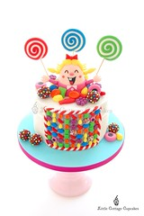 Candy Crush Cake (Little Cottage Cupcakes) Tags: birthday cake candy birthdaycake candies sugarart tiffi candycrush 40thbirthdaycake littlecottagecupcakes candycrushcake