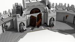 Minas Tirith 26 gate destroyed (Anduin1710) Tags: city white men king minas lego lotr return tolkien middleearth jrr tirith the thelordoftherings ldd gondor digitaldesigner rtok